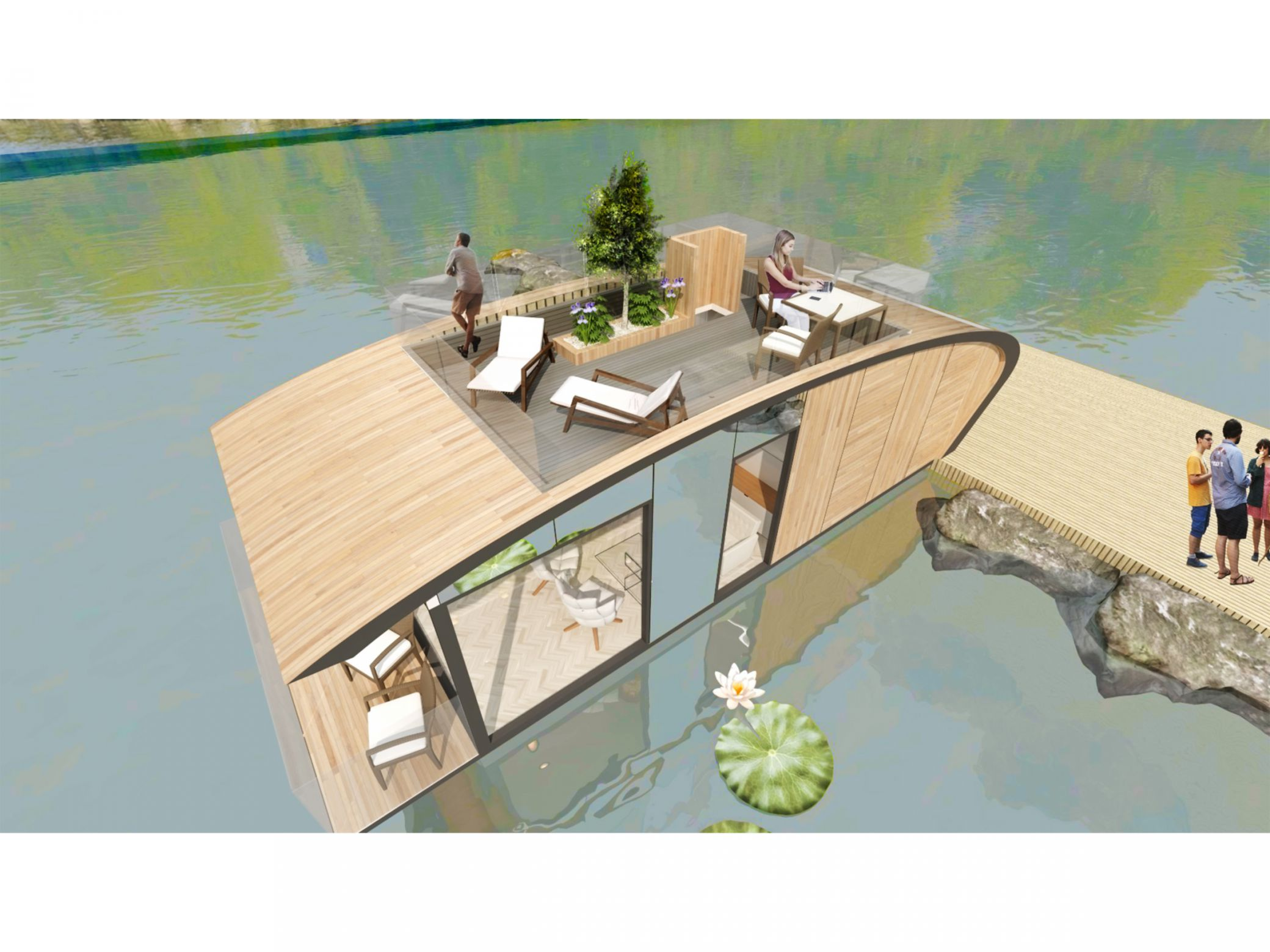 Floating Habitats glamping