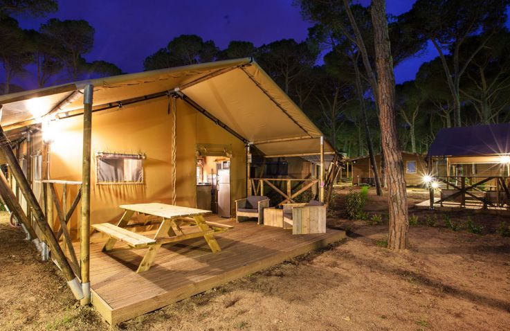 Camping Pomport Beach - Safaritenten Dordogne